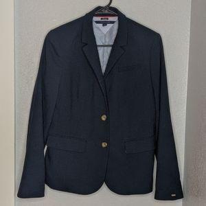 Tommy Hilfiger navy blue short lined blazer